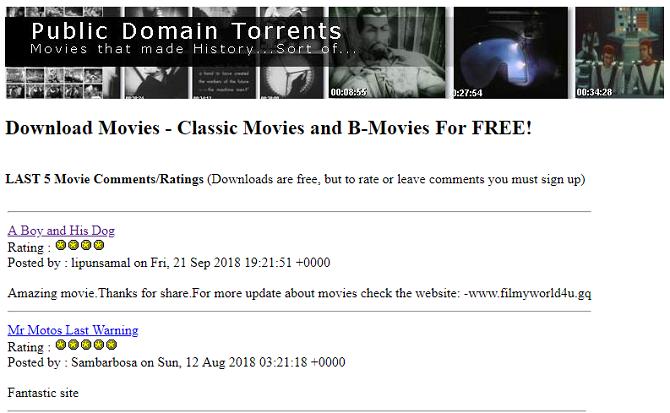 5 лучших сайтов для общественного достояния фильмов
