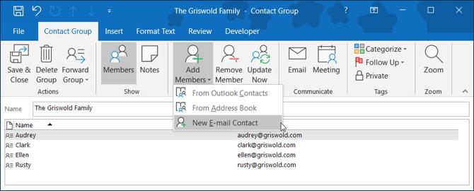 Как создать группу электронной почты и список рассылки в Outlook