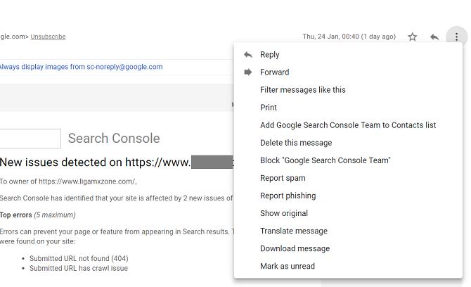 Как заблокировать электронную почту в Gmail, Yahoo и Outlook