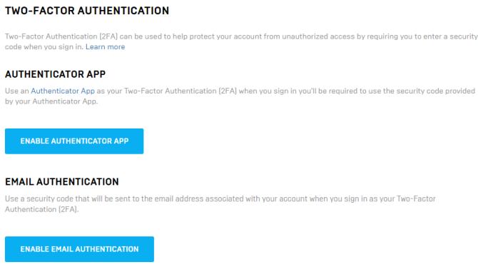 Как защитить Fortnite.com с помощью 2FA (двухфакторной аутентификации)