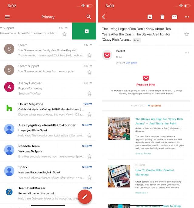 10 лучших почтовых приложений для iPhone и Android