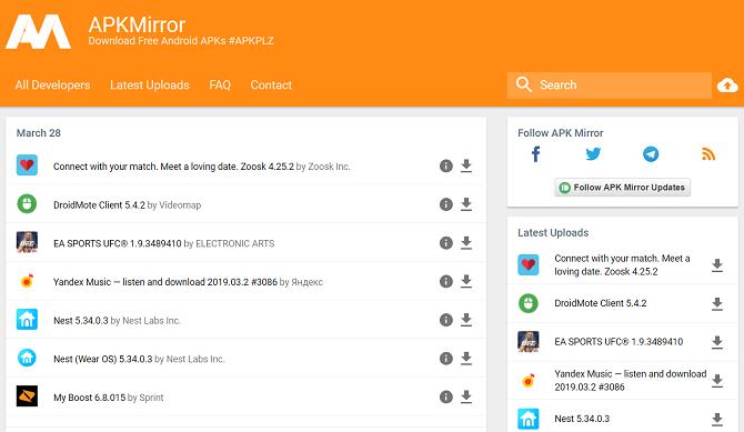 5 лучших сайтов для безопасного Android APK Загрузки