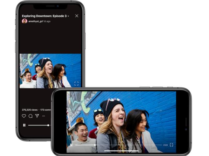 IGTV в Instagram теперь поддерживает видео в альбомной ориентации