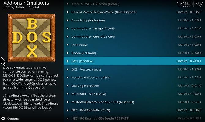 Как играть в игры на Kodi с помощью Retroplayer