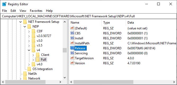 6 способов проверить, какие версии .NET Framework установлены