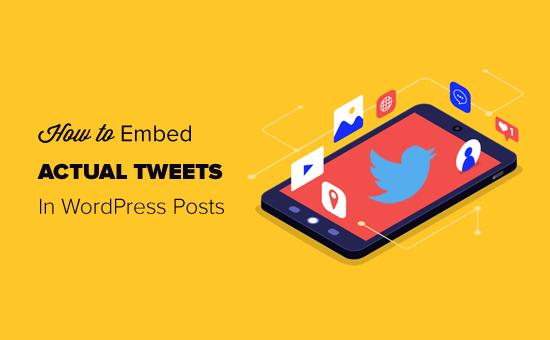 Как вставлять актуальные твиты в сообщения блога WordPress