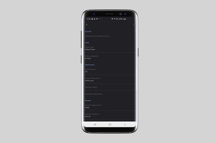 Native Dark Mode наконец-то начинает использовать Gmail для Android