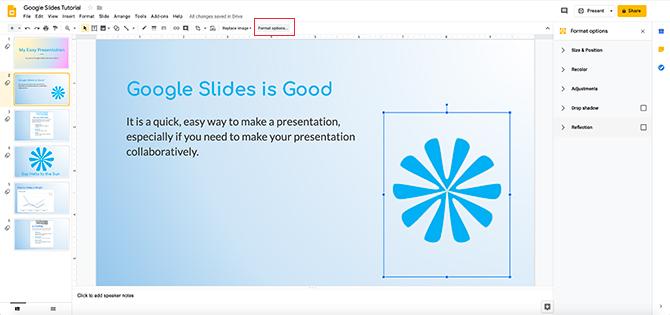 Как перекрасить изображения и объекты в Google Slides