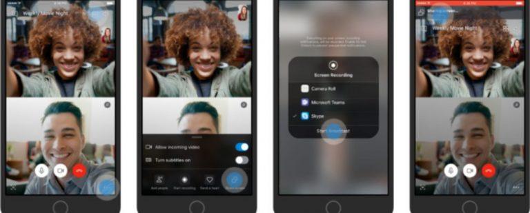 Skype теперь позволяет вам поделиться своим экраном на мобильном телефоне