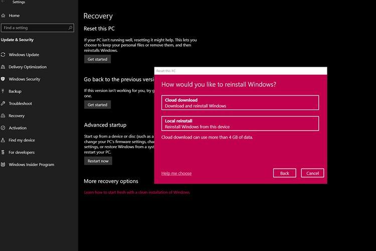 Скоро вы сможете перезагрузить свой Windows-компьютер в облаке