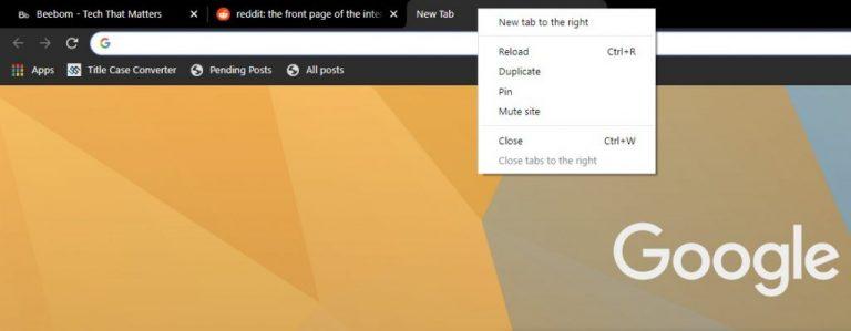 Как использовать функцию «Открыть закрытую вкладку» в Google Chrome 78