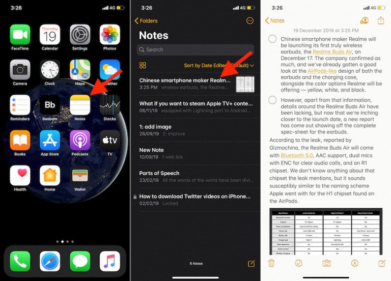 Как превратить заметки в напоминания на iPhone, iPad и Mac