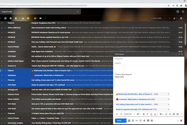 Как отправлять электронные письма в виде вложений в Gmail