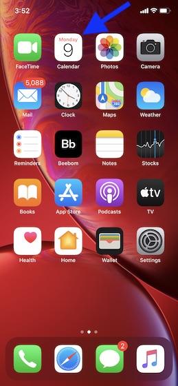 Как отобразить отклоненные события в приложении «Календарь» на iPhone