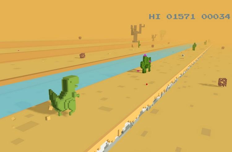 Теперь вы можете играть в Chrome T-Rex Runner в 3D