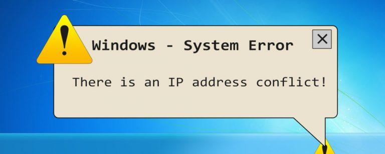 Что такое конфликт IP и как вы его разрешаете?