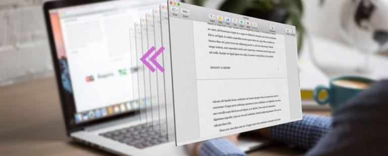 Как восстановить предыдущие версии страниц, Word и других документов Mac