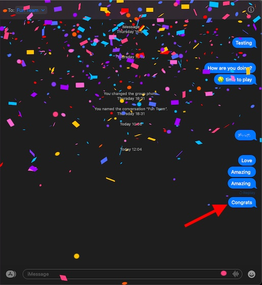 Как использовать iMessage Effects в macOS Big Sur