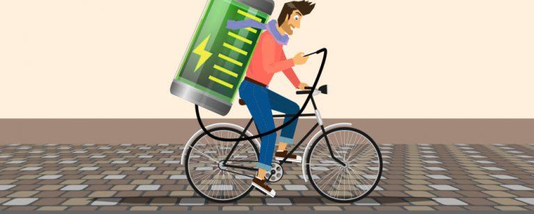Как зарядить телефон во время езды на велосипеде