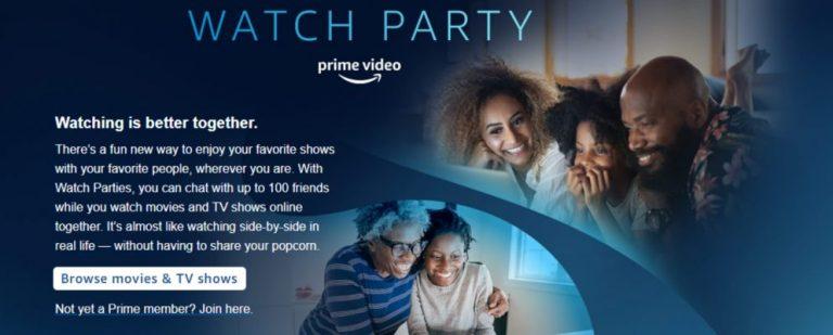 Теперь вы можете устраивать вечеринки на Amazon Prime Video