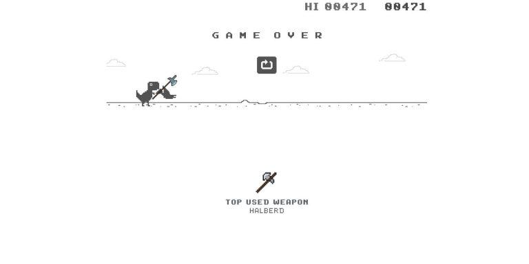 Теперь вы можете играть в игру про динозавров от Google с оружием