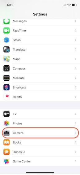 Как отразить селфи передней камеры на iPhone