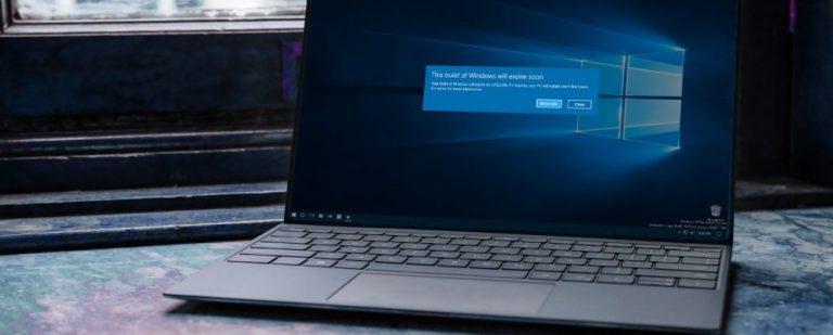 Как исправить ошибку «Эта сборка Windows скоро истечет» в Windows 10