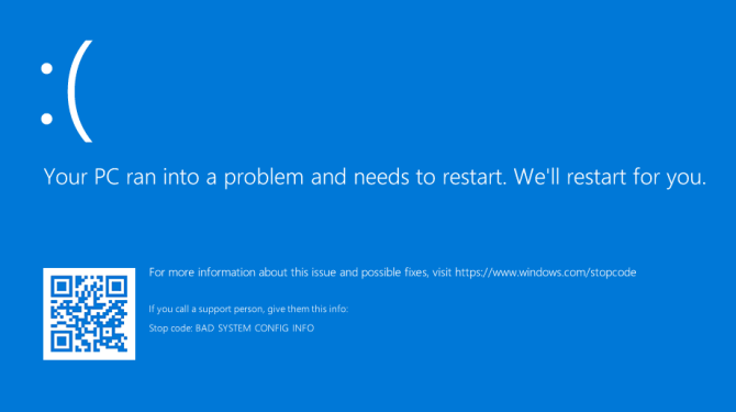 Исправьте ошибку «Ваш компьютер столкнулся с проблемой и нуждается в перезагрузке»