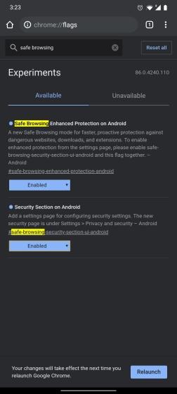 Как включить расширенный безопасный просмотр в Chrome для Android