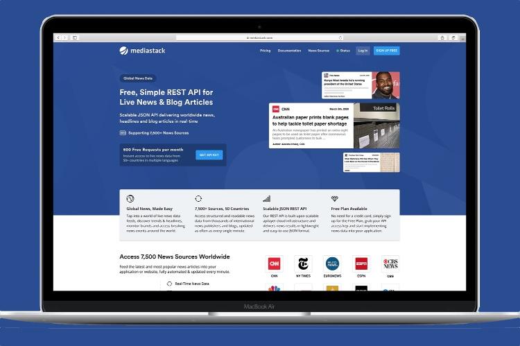 Mediastack: живые новости и статьи в блогах REST API