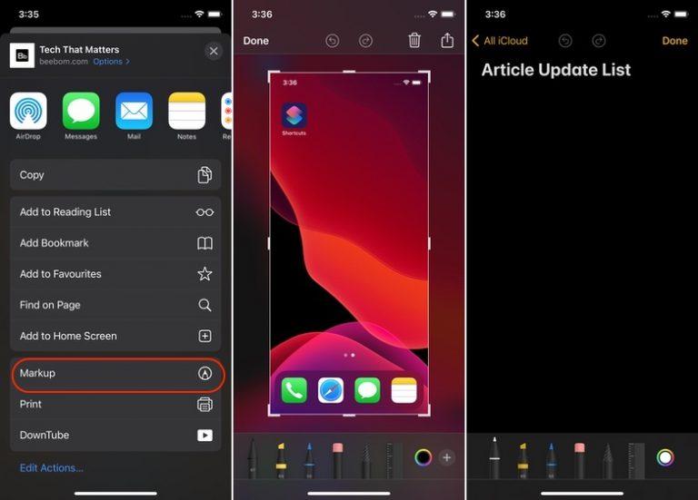 Как использовать новые инструменты цвета разметки в iOS 14 на iPhone