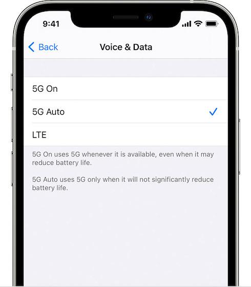 Как сэкономить заряд батареи при использовании 5G на iPhone 12