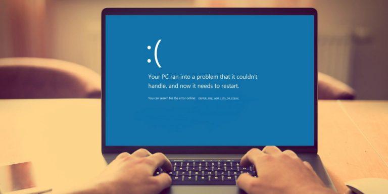 Как исправить ошибку DRIVER_IRQL_NOT_LESS_OR_EQUAL в Windows 10?