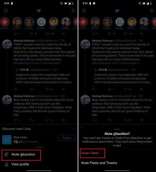 Как отключить автопарки в Twitter для Android и iOS