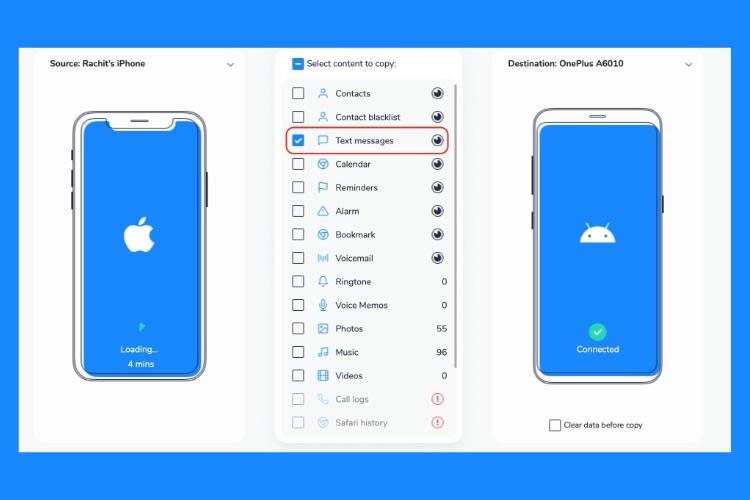 Как передавать сообщения с iPhone на устройства Android.