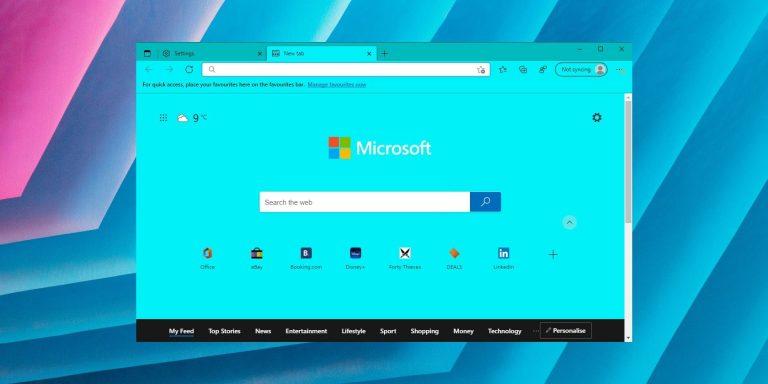 Microsoft добавляет пользовательские цветовые акценты в браузер Edge