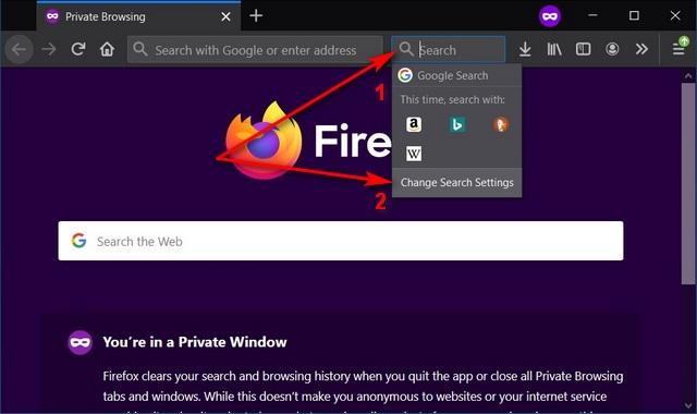Как изменить поисковую систему по умолчанию в Firefox