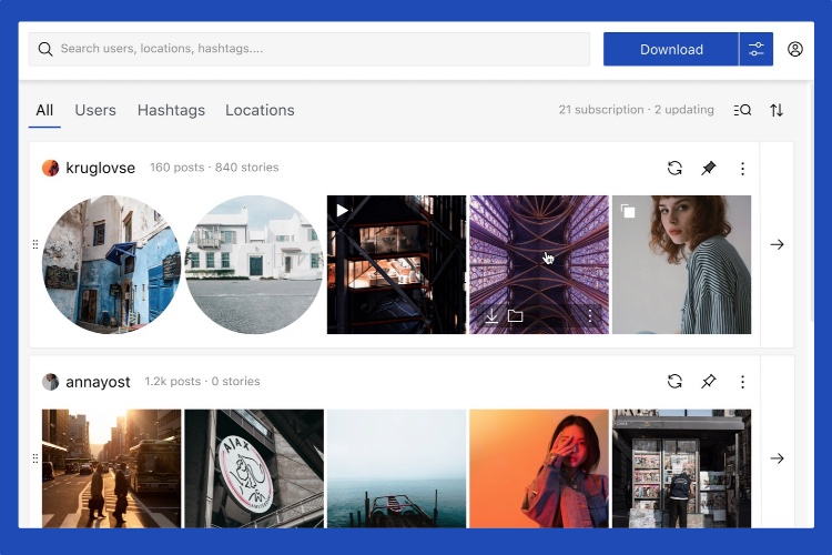 Qoob Stories: просмотр и загрузка историй, фотографий, видео из Instagram