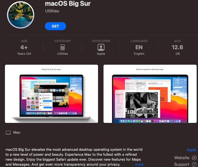 Как создать ISO-файл MacOS Big Sur с помощью терминала