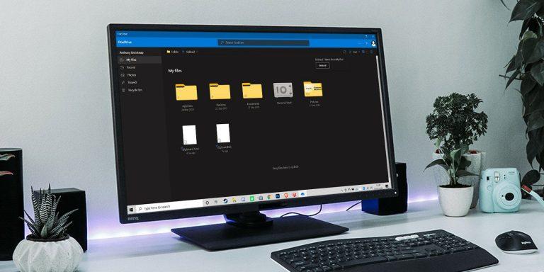Все необходимые ярлыки для приложения Microsoft OneDrive для Windows 10