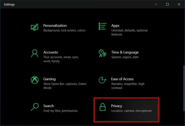Как отключить доступ к файловой системе для приложений в Windows 10