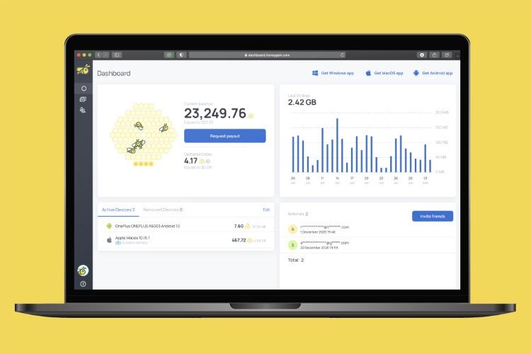 Honeygain: используйте подключение к Интернету, чтобы зарабатывать деньги