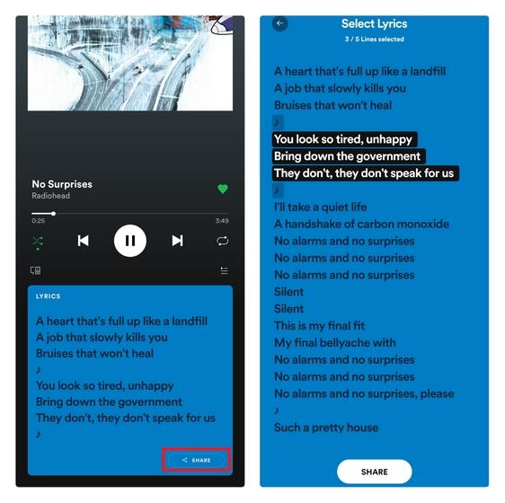 Как поделиться текстами песен Spotify и Apple Music в Instagram Stories
