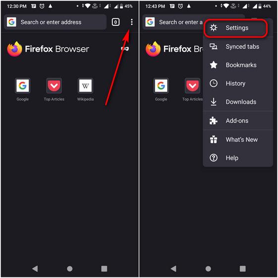Как сделать снимок экрана в приватном режиме Firefox на Android