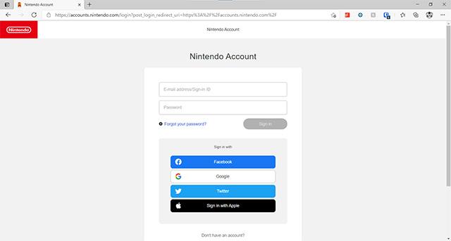 Как включить двухфакторную аутентификацию на Nintendo Switch