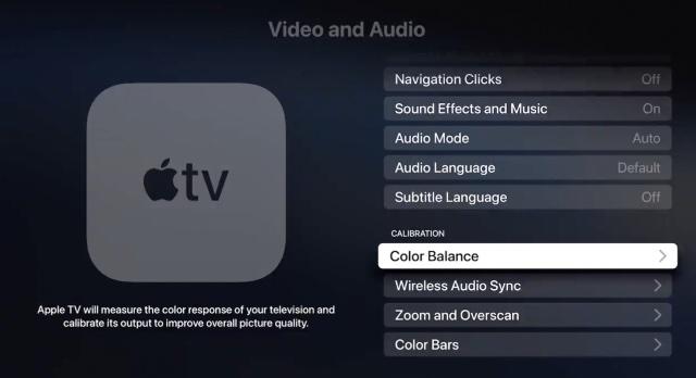 Как использовать функцию цветового баланса Apple TV для iPhone