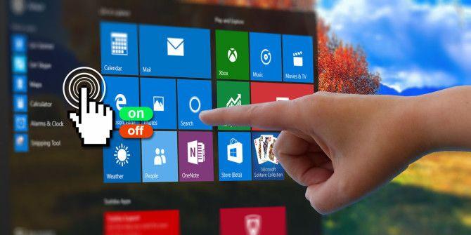 Как переключить сенсорный экран в Windows 10