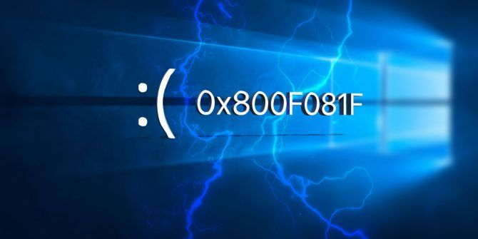 Как исправить код ошибки 0x800F081F в Windows 10