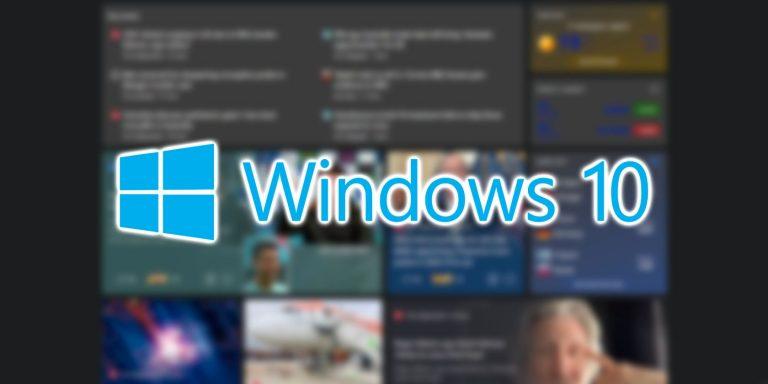 Кнопка новостей и интересов в Windows 10 размыта?  Это не только ты