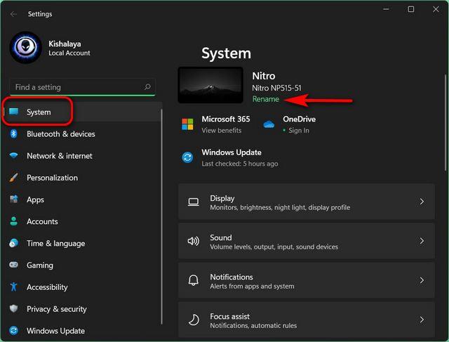 Как изменить имя компьютера в Windows 11 (2021 г.)